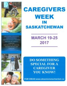Caregivers week in Saskatchewan
